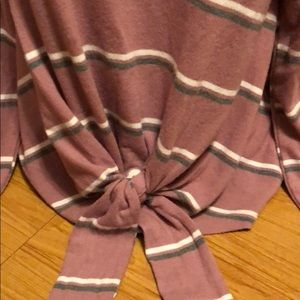 Pink Rose Tops - Tie front sweater!